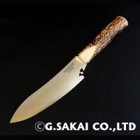 Туристический нож G.Sakai, Gaucho Facon Fixed / VG-1 (laminated), рог оленя - Интернет магазин Японских кухонных туристических ножей Vip Horeca