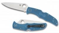 Складной нож Spyderco Endura 4, Flat Ground, VG10 Satin Plain Blade, Blue FRN Handles - Интернет магазин Японских кухонных туристических ножей Vip Horeca