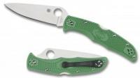 Складной нож Spyderco Endura 4, Flat Ground, VG10 Satin Plain Blade, Green FRN Handles - Интернет магазин Японских кухонных туристических ножей Vip Horeca