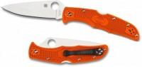 Складной нож Spyderco Endura 4, Flat Ground, VG10 Satin Plain Blade, Orange FRN Handles - Интернет магазин Японских кухонных туристических ножей Vip Horeca