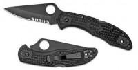 Складной нож Spyderco Delica 4, FRN Handle, Black Blade, Part Serrated - Интернет магазин Японских кухонных туристических ножей Vip Horeca