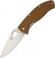 Складной нож Spyderco Tenacious, Brown G10 Handle, Plain - Интернет магазин Японских кухонных туристических ножей Vip Horeca