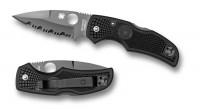 Spyderco Native, Black Blade, Part Serrated - Интернет магазин Японских кухонных туристических ножей Vip Horeca
