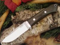 Нож Bark River Drop Point Hunter модель Green Linen Micarta - Интернет магазин Японских кухонных туристических ножей Vip Horeca