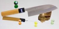 Кухонный нож Gihei-Hamono ZDP-189 Santoku 165mm - Интернет магазин Японских кухонных туристических ножей Vip Horeca