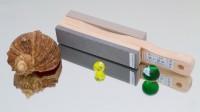 Водный камень и резинка для полировки на одном основании - Интернет магазин Японских кухонных туристических ножей Vip Horeca