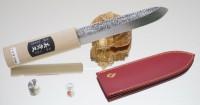 Makiri 135mm (кожаные ножны) - Интернет магазин Японских кухонных туристических ножей Vip Horeca
