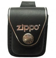 Кожаный чехол Zippo с петлёй, модель LPLBK - Интернет магазин Японских кухонных туристических ножей Vip Horeca