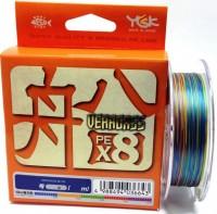 Плетеная леска YGK Veragass PE X8 100m #0.6 (0.128 мм), 6.35кг - Интернет магазин Японских кухонных туристических ножей Vip Horeca