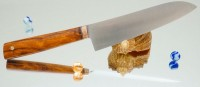 Дамир Сафаров. Кухонный нож серии М390, Santoku 170мм - Интернет магазин Японских кухонных туристических ножей Vip Horeca
