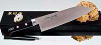 Кухонный нож Fujiwara Kanefusa FKH Santoku 180mm - Интернет магазин Японских кухонных туристических ножей Vip Horeca