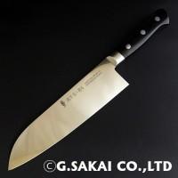 Кухонный нож G.Sakai ATS-34 Santoku 180mm - Интернет магазин Японских кухонных туристических ножей Vip Horeca