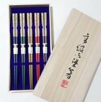Набор японских палочек (хаси), 5 шт., подарочная деревянная коробка - Интернет магазин Японских кухонных туристических ножей Vip Horeca