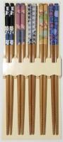 Набор японских палочек (хаси), 5 шт., цветы - Интернет магазин Японских кухонных туристических ножей Vip Horeca