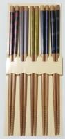 Набор японских палочек (хаси), 5 шт., геометрия - Интернет магазин Японских кухонных туристических ножей Vip Horeca