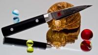 Кухонный нож Kasumi Damasc Paring 80mm - Интернет магазин Японских кухонных туристических ножей Vip Horeca