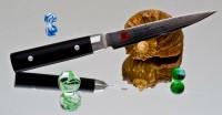Кухонный нож Kasumi Damasc Petty 120mm - Интернет магазин Японских кухонных туристических ножей Vip Horeca