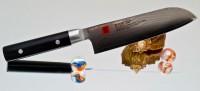 Кухонный нож Kasumi Damasc Santoku (mini) 130mm - Интернет магазин Японских кухонных туристических ножей Vip Horeca