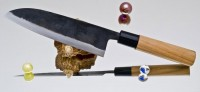 Кухонный нож Moritaka A2 Standard Santoku 185mm - Интернет магазин Японских кухонных туристических ножей Vip Horeca