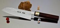 Кухонный нож Moritaka AS Damaskus Santoku 185mm - Интернет магазин Японских кухонных туристических ножей Vip Horeca