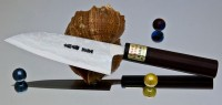 Кухонный нож Moritaka AS Damaskus Small Santoku 130mm - Интернет магазин Японских кухонных туристических ножей Vip Horeca