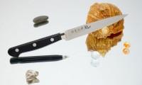 Кухонный нож RYUSEN Blazen Fluting 110mm - Интернет магазин Японских кухонных туристических ножей Vip Horeca