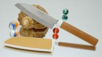 Кухонный нож Suncraft Santoku 105mm - Интернет магазин Японских кухонных туристических ножей Vip Horeca
