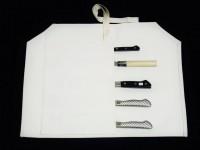 Скатка для транспортировки и хранения кухонных ножей Tojiro, на 5 ножей - Интернет магазин Японских кухонных туристических ножей Vip Horeca