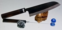 Кухонный нож  Watanabe Santoku 165mm - Интернет магазин Японских кухонных туристических ножей Vip Horeca
