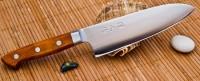 Поварской нож Sanetu ZDP-189 Santoku 165mm - Интернет магазин Японских кухонных туристических ножей Vip Horeca