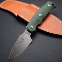 Туристический нож G.Sakai, Camper En Fixed / ZDP-189, Green G-10 - Интернет магазин Японских кухонных туристических ножей Vip Horeca