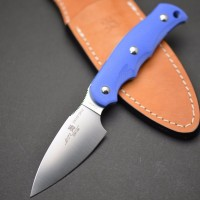 Туристический нож G.Sakai, Camper En Fixed / ZDP-189, Blue G-10 - Интернет магазин Японских кухонных туристических ножей Vip Horeca
