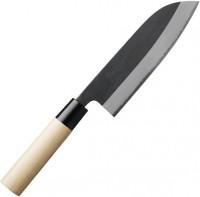 Кухонный нож Gihei-hamono Shirogami#2 в высокоуглеродистых обкладках, японская ручка, Santoku 165mm - Интернет магазин Японских кухонных туристических ножей Vip Horeca