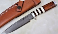 "Hattori 傘 SAN Limited Edition SAN-16 Cowry-X Damascus ""WILD ROAD HUNTER PREMIUM"" - Интернет магазин Японских кухонных туристических ножей Vip Horeca"