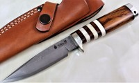"Hattori 傘 SAN Limited Edition SAN-17 Cowry-X Damascus ""WILD ROAD HUNTER PREMIUM S"" - Интернет магазин Японских кухонных туристических ножей Vip Horeca"