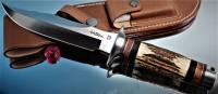 Hattori 傘 SAN Limited Edition SAN-3 S.O.G. Bowie Knife, Stag handle  - Интернет магазин Японских кухонных туристических ножей Vip Horeca