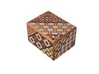 Японская коробка с секретом (Japan Puzzle Box) Yosegi 60x47X38мм, 5 шагов до открытия - Интернет магазин Японских кухонных туристических ножей Vip Horeca