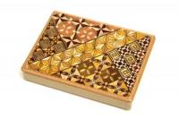 Японская коробка с секретом (Karakuri Magic Box) Yosegi 127x90X12мм, 4 шага до открытия - Интернет магазин Японских кухонных туристических ножей Vip Horeca