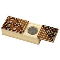 Японская коробка для монет с секретом (Karakuri Coin Box) Yosegi 90x45X26мм - Интернет магазин Японских кухонных туристических ножей Vip Horeca