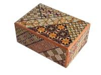 Японская коробка с секретом (Japan Puzzle Box) Yosegi 120x85x50мм,  4 шага до открытия - Интернет магазин Японских кухонных туристических ножей Vip Horeca