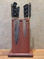 Настольный поворотный магнитный держатель для ножей MDG (сапеле (красное дерево)) - Интернет магазин Японских кухонных туристических ножей Vip Horeca