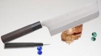 Кухонный нож Kajibee Aogami Regular Nakiri 165mm - Интернет магазин Японских кухонных туристических ножей Vip Horeca