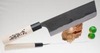 Кухонный нож Kajibee Shirogami Kurouchi Nakiri  165mm - Интернет магазин Японских кухонных туристических ножей Vip Horeca