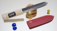 Makiri  черный 150mm (кожаные ножны) - Интернет магазин Японских кухонных туристических ножей Vip Horeca