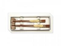 Набор японских палочек (хаси) с подставками, 2 пары, 21 и 23 см,  подарочная картонная коробка - Интернет магазин Японских кухонных туристических ножей Vip Horeca