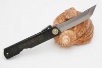 Нож складной Nagao Higonokami, Sword shape, Shirogami (White Steel), Black, 80mm - Интернет магазин Японских кухонных туристических ножей Vip Horeca