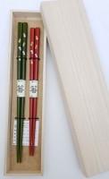 Набор 2 пары, японские палочки (хаси), подарочная деревянная коробка - Интернет магазин Японских кухонных туристических ножей Vip Horeca