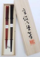Набор 2 пары, деревянные японские палочки (хаси) с рисками, подарочная деревянная коробка - Интернет магазин Японских кухонных туристических ножей Vip Horeca