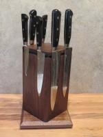 Настольный поворотный магнитный держатель для ножей MDG (американский орех) - Интернет магазин Японских кухонных туристических ножей Vip Horeca