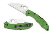Складной нож Spyderco Salt 2, Wharncliffe, Green FRN Handle, LC200N, Plain - Интернет магазин Японских кухонных туристических ножей Vip Horeca